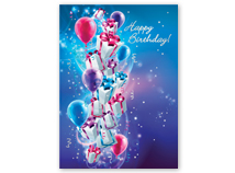 Up, Up and Away! Happy Birthday Greeting Cards